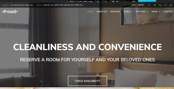 primo – elementor wordpress theme for hotels