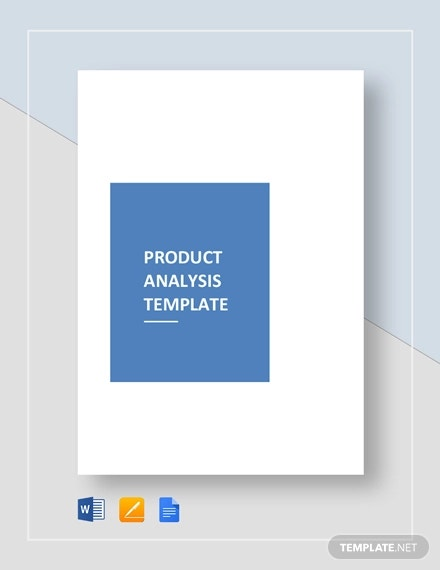 product analysis template