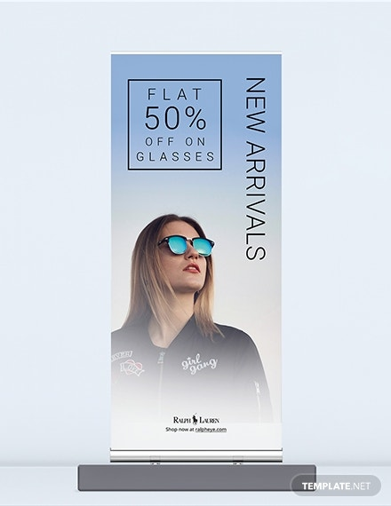 product roll up banner template