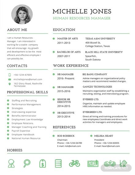 professional hr resume 1x