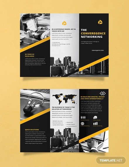 professional networking business brochure design
