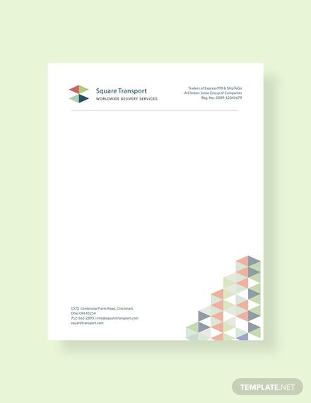 professional services letterhead design