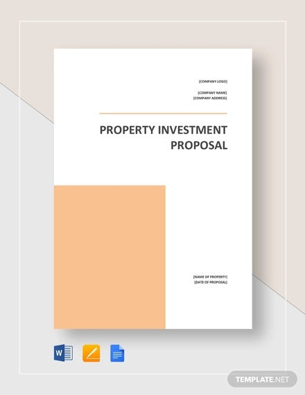 property investment proposal template