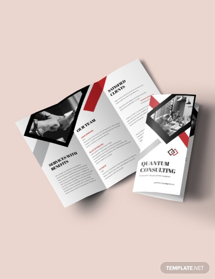 quantum consulting trifold brochure template