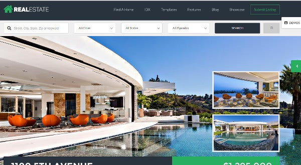 real estate 7 seo optimized wordpress theme