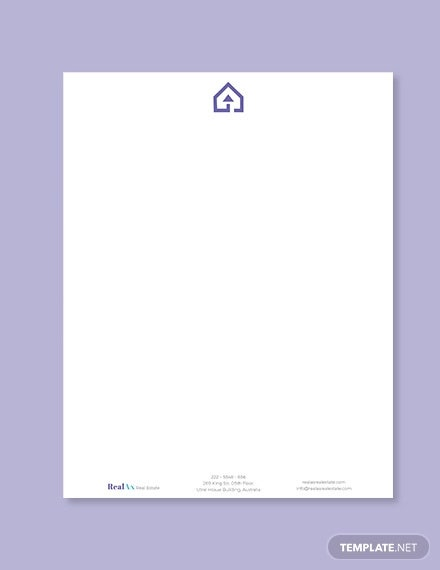 real estate company letterhead template