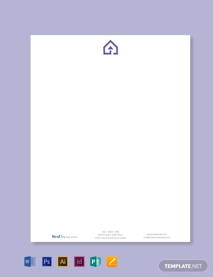 real estate company letterhead template1