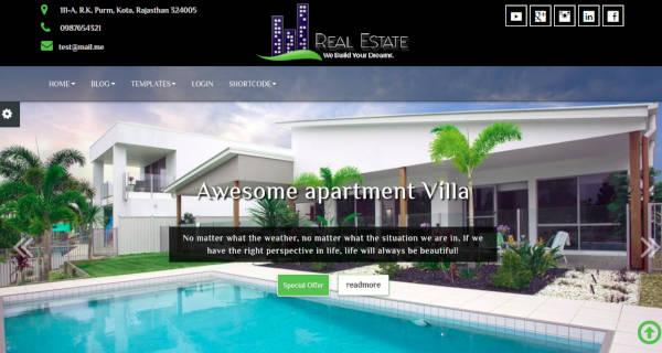 real estate smooth wordpress theme