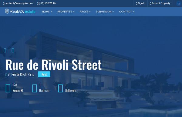 realax fully responsive wordpress theme