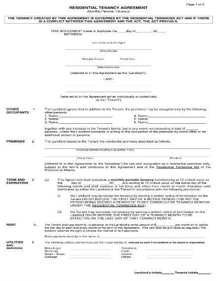 residential tenancy agreement 1