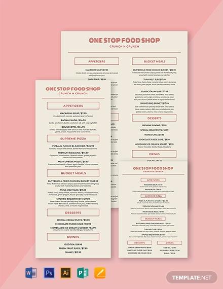 restaurant food and drinks menu template 440x570 1