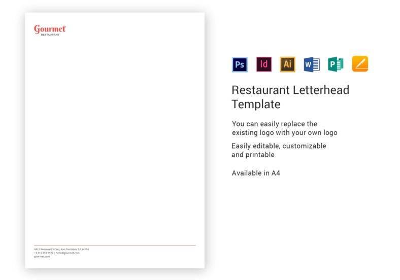 restaurant letterhead template 788x552