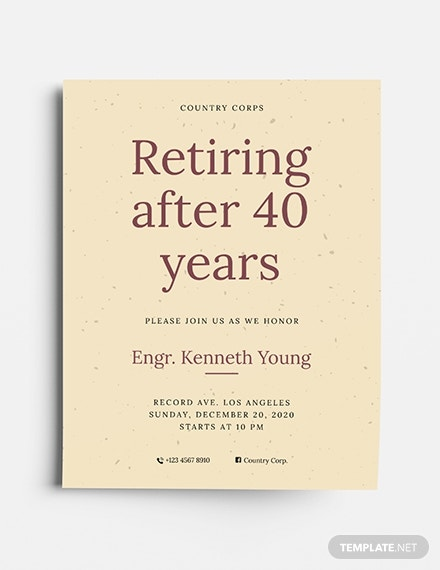 retiring after 40 years