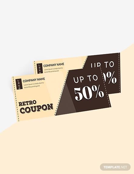 retro blank coupons 1x
