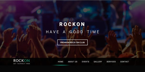 rockon – minimal and clean nightclub wp theme