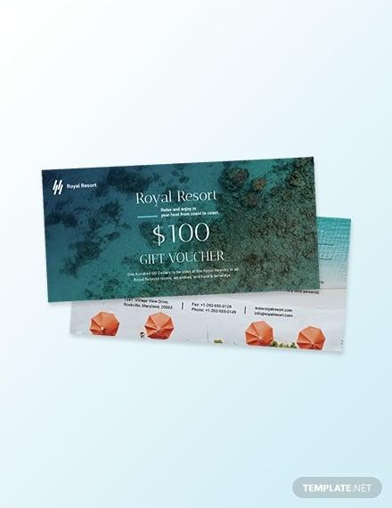 royal resort coupon template