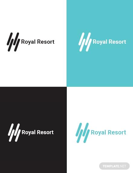 royal resort logo layout