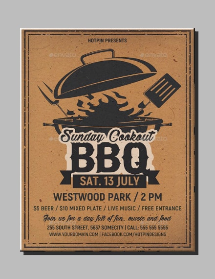 Rustic BBQ Cookout Flyer Layout