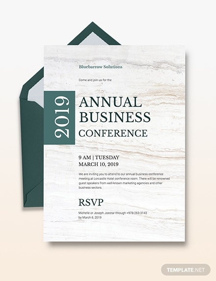 rustic business conference invitation sample
