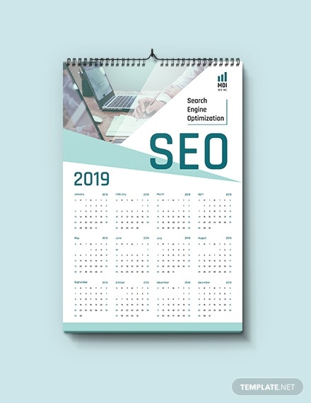 seo calendar template