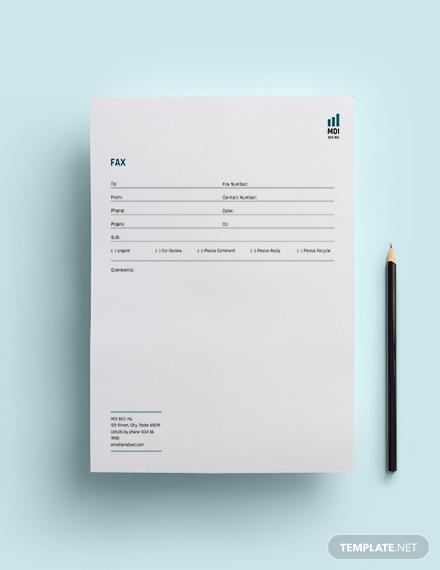 seo fax paper template 1