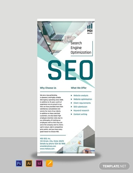 seo rollup banner template