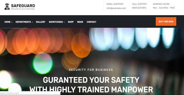 safeguard – easily customizable wordpress theme