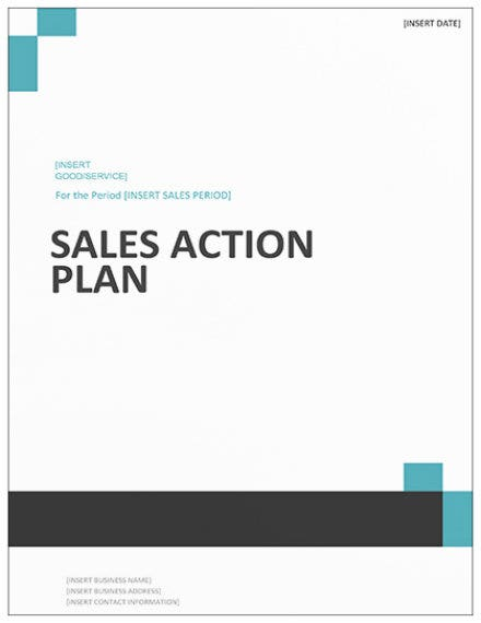 sales action plan template mockup