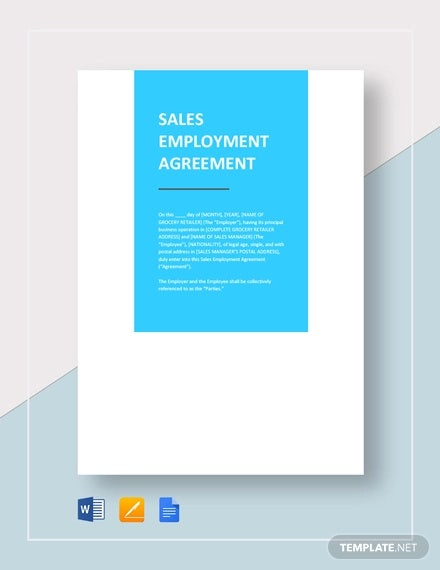 sales employment agreement template