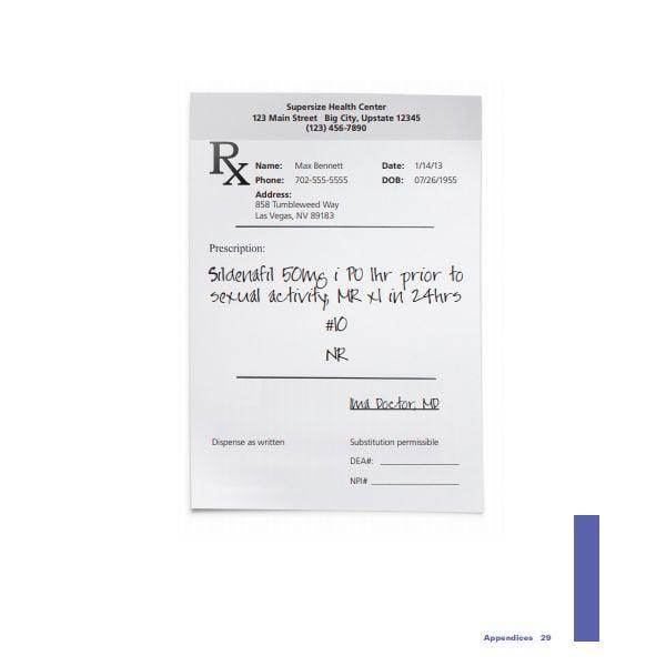 sample blank prescription template