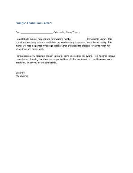 sample thank you letter 1