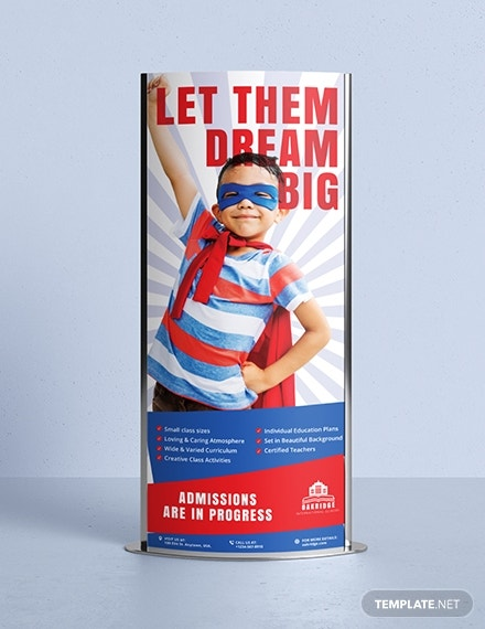 school promotion roll up banner layout