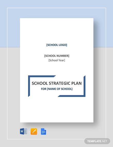 school strategic plan 2