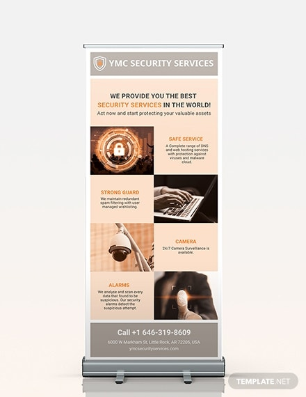 security services roll up banner template
