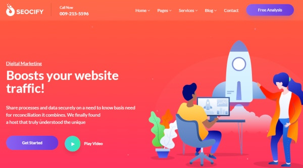 seocify seo and digital marketing wordpress theme