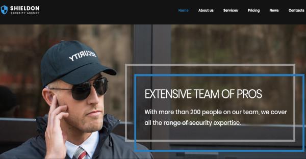 shieldon cyber security agency wordpress theme