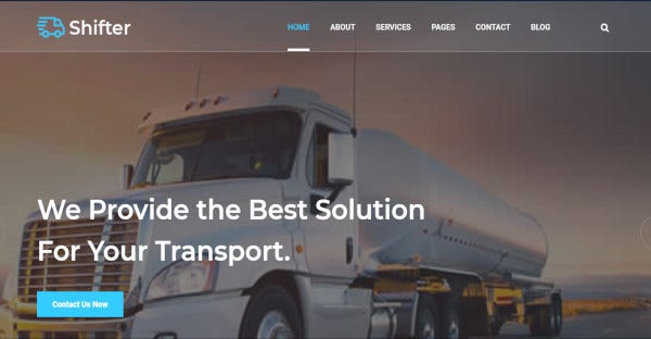 shifter logistic transport wordpress theme