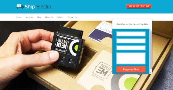 shipelectro an electronics shipping wordpress theme