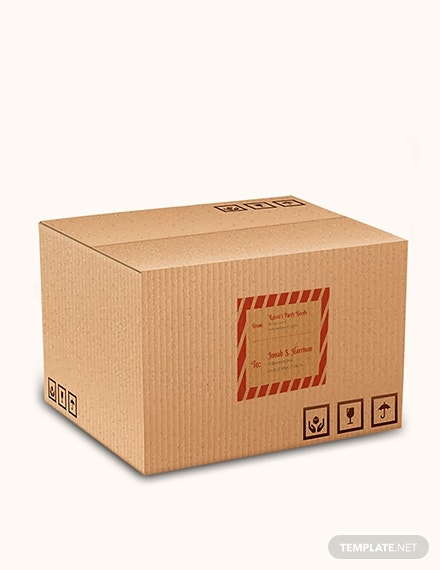 shipping box label format