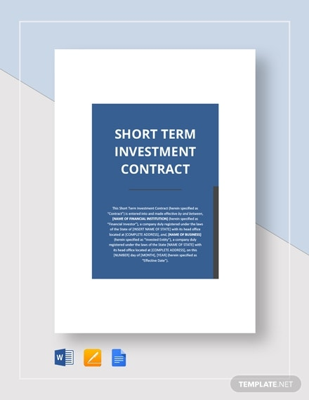 short term investment contract 21