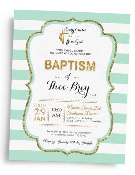 simple baptismal invitation