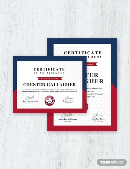 simple baseball award certificate template 2 1x