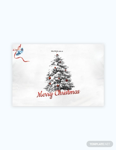 simple christmas card template