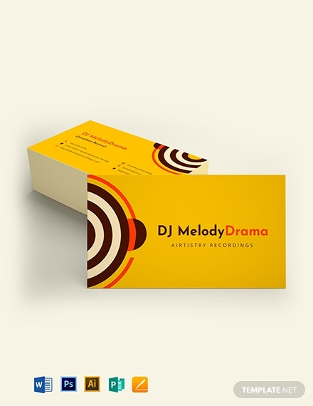 simple dj business card template