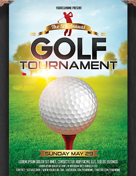 Simple Golf Tournament Flyer Layout