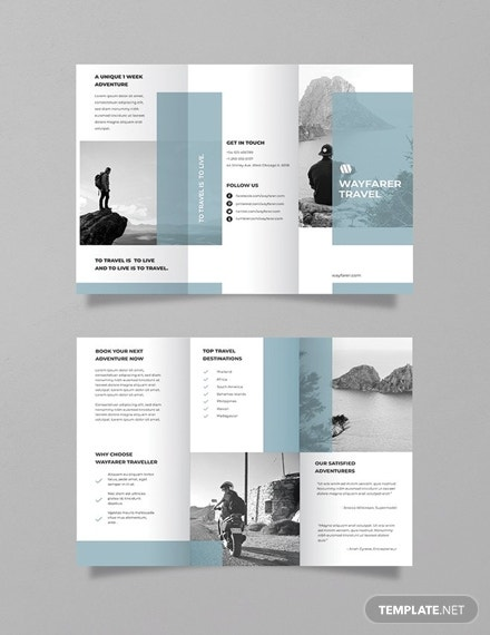 simple travel brochure template