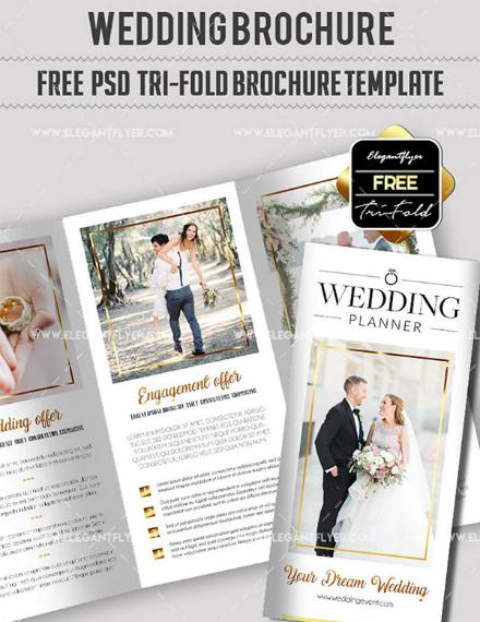 smart wedding planner trifold brochure
