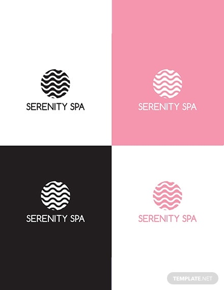 spa logo design template 440