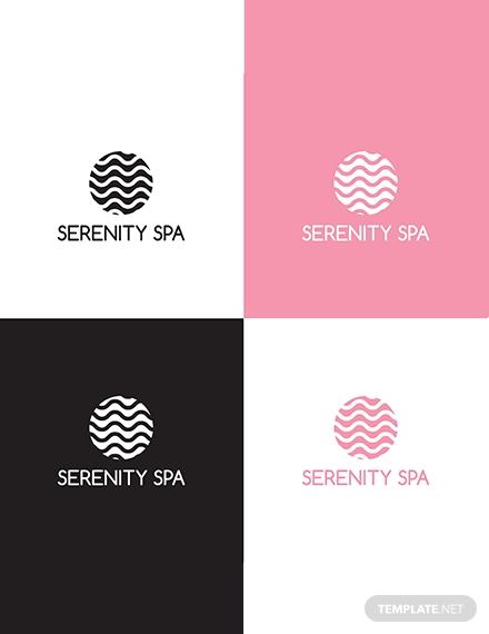 spa logo design template