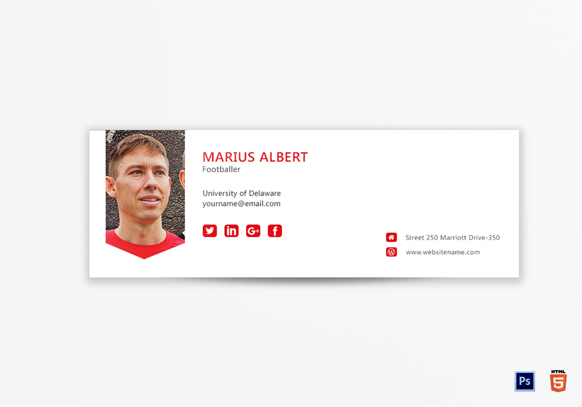 sports professional email signature example